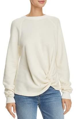 Monrow Twist-Front Sweatshirt