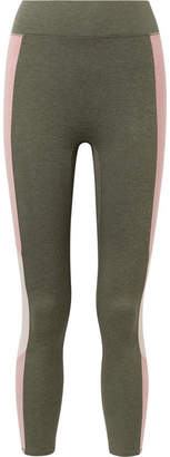 The Center Cropped Color-block Stretch-jersey Leggings - Army green We/Me Nicekicks Sale Online VwGPo