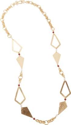 Stephanie Kantis Hope Necklace With Red Jasper & White Quartz Necklace