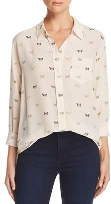 Rails Kate Butterfly Print Silk Shirt