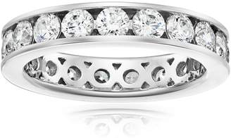 Swarovski Amazon Collection Sterling Silver Zirconia 3 cttw Channel Set All-Around Ring, Size 8