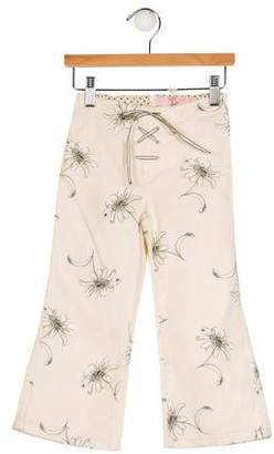MonnaLisa Girls' Printed Flared Jeans w/ Tags