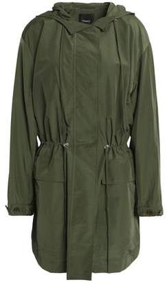 Theory Gathered Cotton-Blend Shell Hooded Jacket