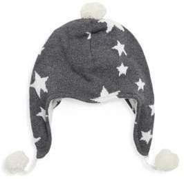 Elegant Baby Baby's Star Pom-Pom Aviator Hat