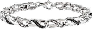 Black Diamond FINE JEWELRY 1/4 CT. T.W. White and Color-Enhanced Sterling Silver Tennis Bracelet