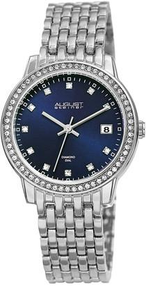 August Steiner Women's Diamond Dial Alloy Watch