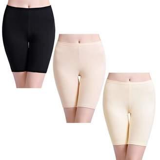 wirarpa Womens High Waisted Cotton Boy Shorts Anti Chafing Gym Bike Yoga Leggings 3 Pack Size L