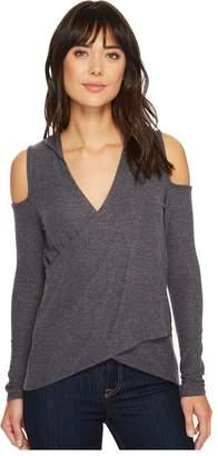LAmade Ramona Super Fuzzy Knit Hooded Top Women's Clothing