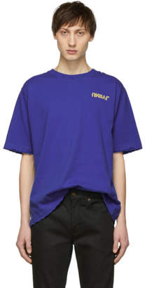 Unravel Blue Ete Skull Vintage J Skate T-shirt