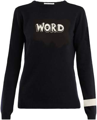 Bella Freud Word-intarsia wool sweater