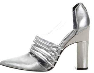 Prabal Gurung Leather Point-Toe Booties