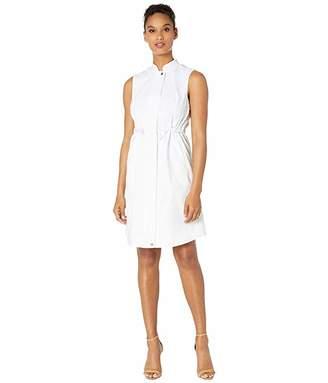 Calvin Klein Cotton Dress w/ Ties at Waist