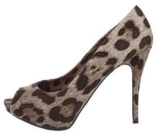 Dolce & Gabbana Platform Peep-Toe Pumps