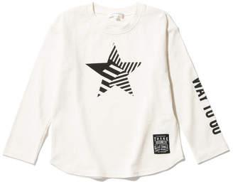 3can4on (サンカンシオン) - サンカンシオン 【160cmまで】ボーダースター ロングTシャツ