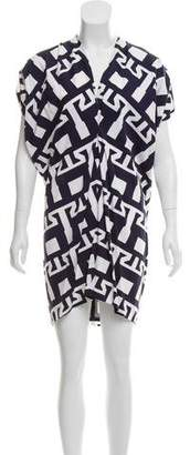 Zero Maria Cornejo Abstract V-Neck Dress