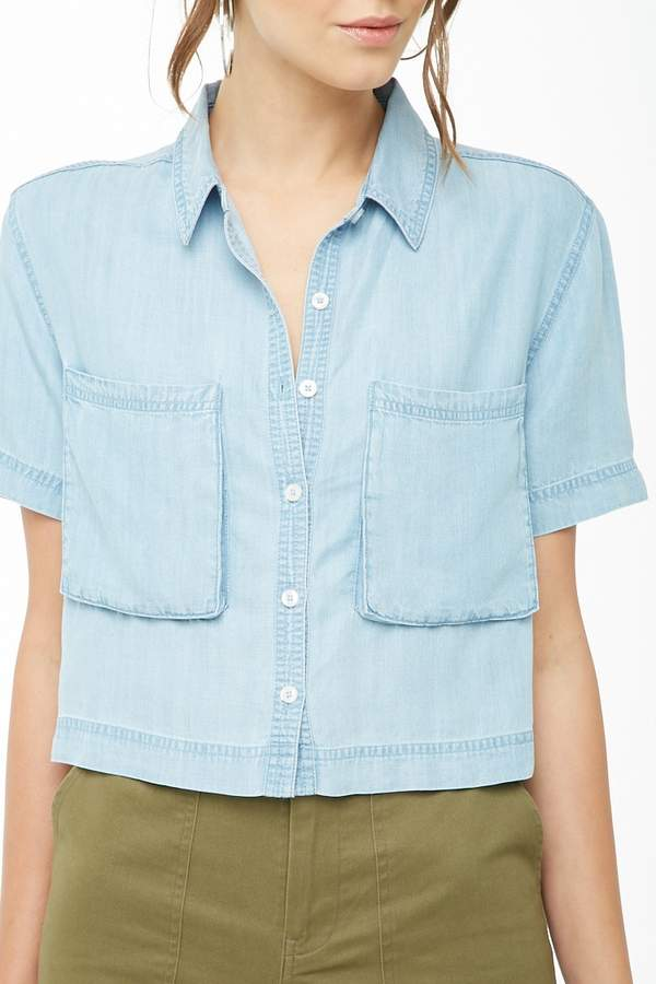 Forever 21 Boxy Chambray Shirt
