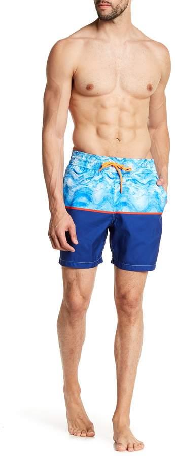 Le Club Horizon Colorblock Swim Trunks