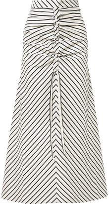 Paper London Saskia Striped Woven Maxi Skirt - Cream