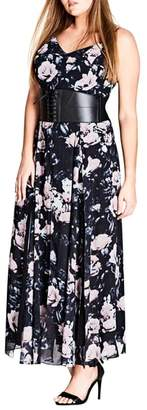 City Chic Rose Romance Maxi Dress
