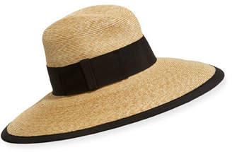 Kokin Via Caprese Gangster Straw Fedora Hat