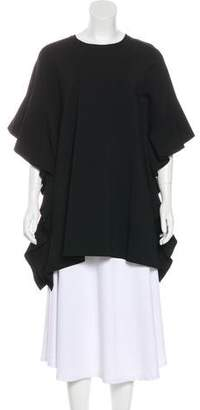 Valentino Oversize Ruffle-Trimmed Tunic w/ Tags