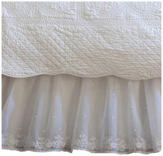 Taylor Linens Daisy Dot 350 Thread Count Bedskirt