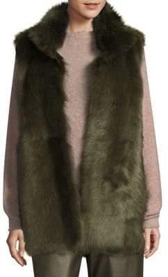 LK Bennett Long Fur Vest