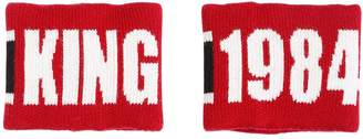 Dolce & Gabbana Set Of 2 Wool Intarsia Wristbands