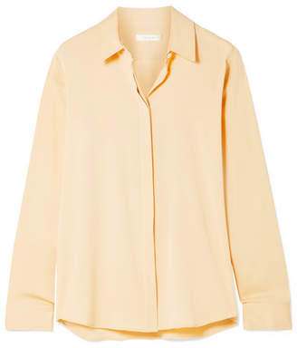 The Row Petah Silk-blend Crepe De Chine Shirt - Cream