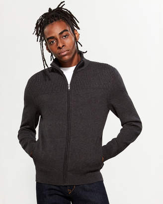 Calvin Klein Mix Rib Full-Zip Sweater