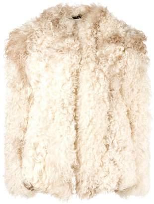 Saint Laurent short shearling jacket