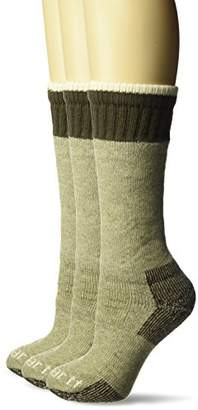 f031a5ffd03be Carhartt Women's Heavyweight Merino Wool Blend Boot Sock-3 Pair Pack Bundle