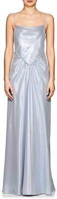 Alberta Ferretti Women's Silk-Blend Lamé Gown - Ice Blue