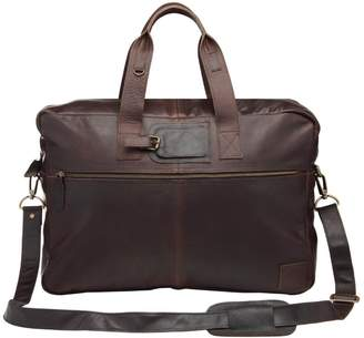 MAHI Leather - Classic Leather Holdall In Mahogany
