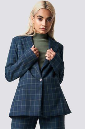 Na Kd Classic Checked Blazer Blue Check