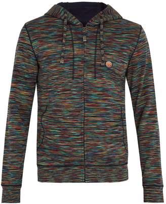 MISSONI MARE Striped zip-through cotton hooded sweatshirt
