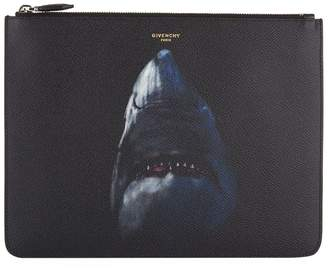 Givenchy Leather Shark Pouch Bag