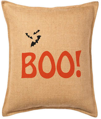 Greendale Home Fashions Boo! Burlap Pillow Front Panel Interior Cotton Lined