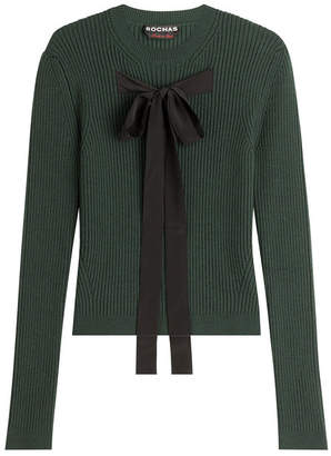 Rochas Wool Blend Pullover with Ribbon Front