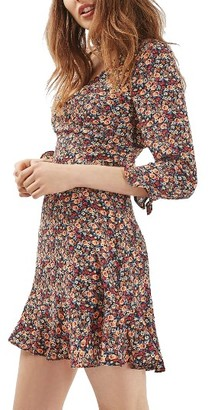 Women's Topshop Peach Pop Ruffle Tea Dress $90 thestylecure.com
