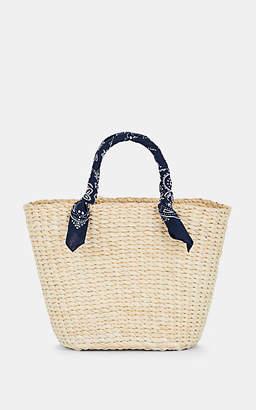 Barneys New York Women's Bandana Straw Tote Bag - Neutral