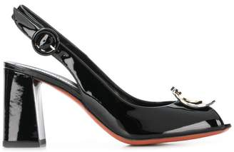 Baldinini logo plaque pumps