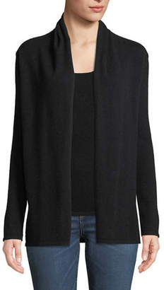 Neiman Marcus Cashmere Modern Open-Front Cardigan