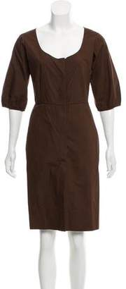 Sophie Theallet Long Sleeve Knee-Length Dress