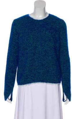 Celine Rib Knit Long Sleeve Sweater