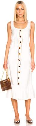 Nicholas Button Front Garden Dress in Ivory | FWRD