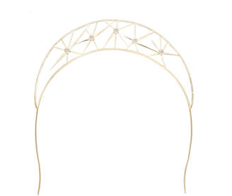 Colette Malouf Starburst Pearl Crown