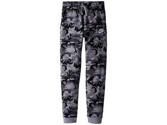 Nike NSW Club Fleece Jogger Camo Print Pants (Big Kids)