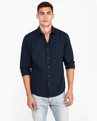 Express Slim Dobby Dot Cotton Shirt