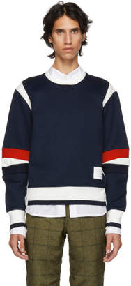 Thom Browne Navy Articulated Sweatshirt